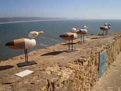 Pottery seagulls.