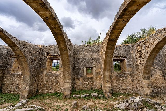the abandoned oil mill of Agios Georgios