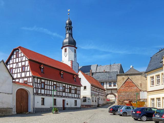 historischer Neumarker Markt mit Blick zur Kirche