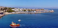 Panoramica rodi 2 - il vecchio porto e il colosso di Rodi - (615)