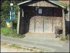 ramshackle bus shelter