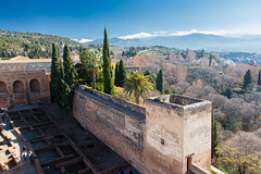 Spain - Granada - The Alhambra palace - Torre de la Vela