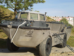 Marines' amphibian transport.