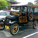 1925 Ford Model T station wagon at Mohawk Valley Community College, Edited Crop, Utica, New York, USA, 2015