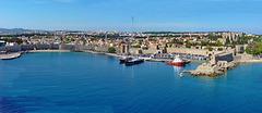 Panoramica Rodi - la città antica fortificata - (614)