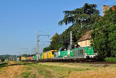 Train de machines à Fleurville