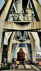 Portalkräne und Hafen-Eisenbahn - Cranes and Trains