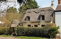 """""""By-Trees""""  thatched cottage ~ Hemingby ~ Lincolnshire"""