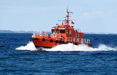 Lotsenversetzboot Stein vor Travemünde
