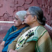 Agra- Two Serious Ladies at the Taj Mahal