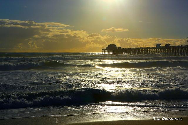 SUNSET IN CALIFORNIA USA