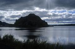 Dumbarton Rock Silhouette