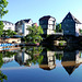 DE - Bad Kreuznach - Bridge Houses, reflecting in the water