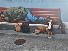 Francisco at 3D street art
