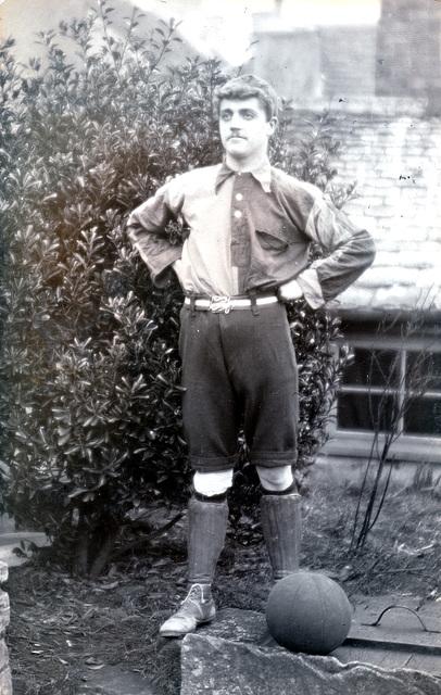 Unidentified footballer c1920