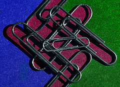 Paper Clip Abstract