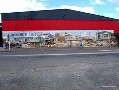 Mural in Putaruru, South Waikato.