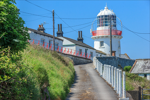 Roches Point Lighthouse, at the entrance to Cork Harbour, on the south coast of Ireland.