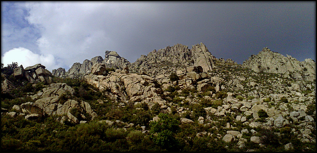 La Sierra de La Cabrera, granite expression.
