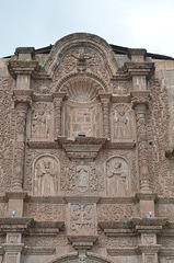 Peru, Puno, Stucco Fretwork on the Front of the Cathedral