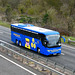 Freestones Coaches (Megabus contractor) YT68 GXM on the A11 near Kennett - 6 Mar 2019 (P1000550)