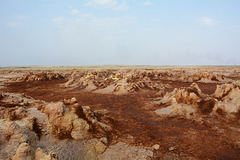 Ethiopia, Danakil Depression, On the Way to the Active Core of the Crater of Dallol Volcano