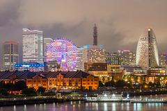 Japan - Yokohama - Minato Mirai 21 view from Ōsanbashi Pier