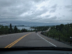 Route pluvieuse / Wet windshield