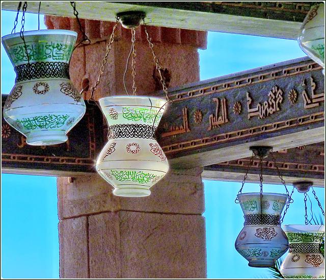 Sharm el Sheikh : Le lampade che illuminano la moskea