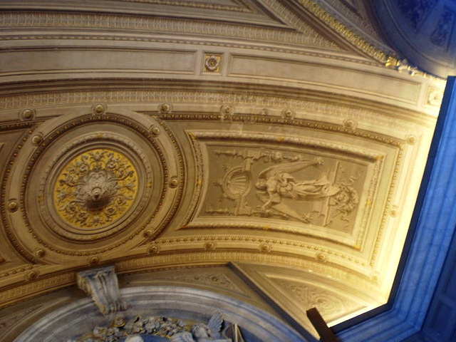Painted ceiling - perfect illusion of relief.