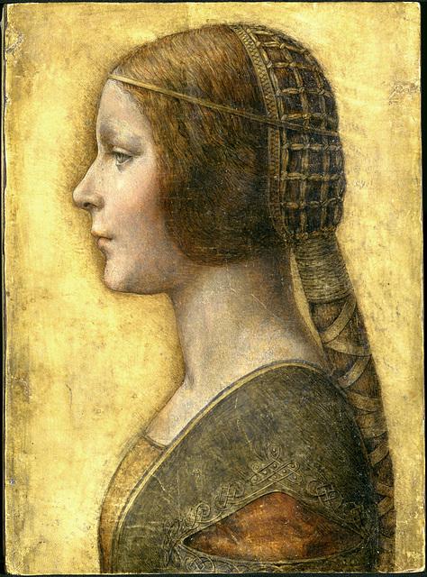 Profile of a Young Fiancee - da Vinci