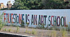 Folkestone is an art school