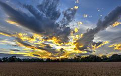 Harvest time sunset, North Yorkshire
