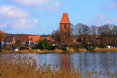Crivitz, Blick über den See zum Stadtzentrum