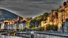 BESANCON: HDR du quai vieil Picard depuis le pont Battant
