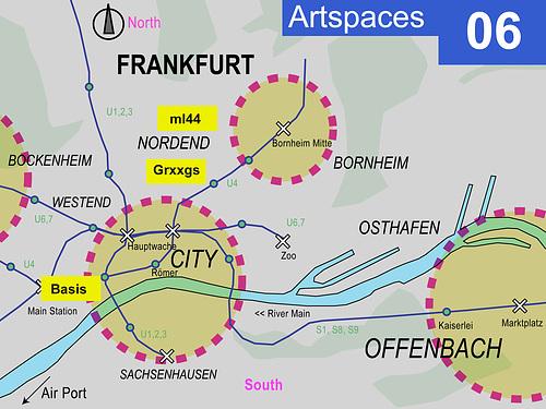 Kunsträume in Frankfurt 2006 --- map2006
