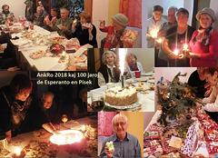 """Antaŭkristnaska Renkontiĝo kaj 100 jaroj de la klubo """"La Ponto"""" en Písek (1.12.2018)"""