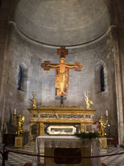 Altar of the Church of Saint Michael in Forum.