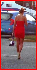 Dame Transtur en rouge / Lady Transtur in red