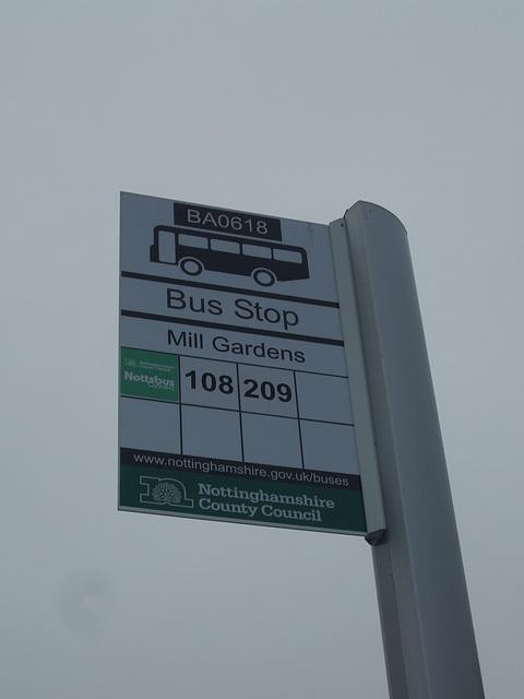 DSCF9002 Bus stop St. Annes Drive, Worksop