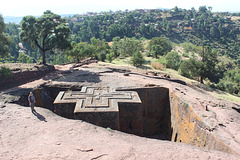 The Top of Bet Giyorgis, Lalibela