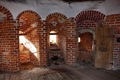 Neustadt-Glewe, Wehrsaal im Bergfried der Alten Burg