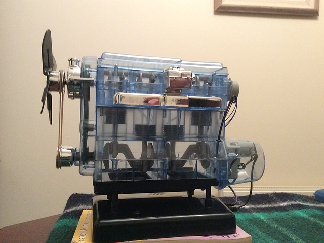 Working model of internal combustion engine built for my grandson.