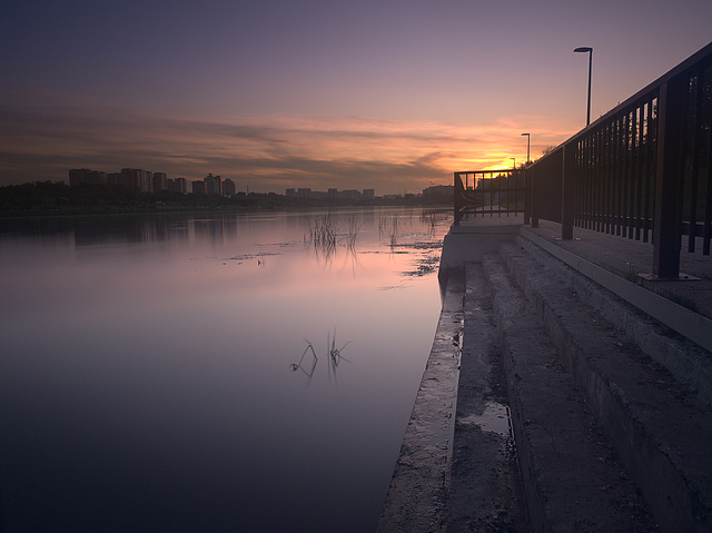 Moscow river sunset