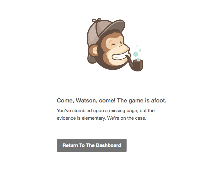 error pages we like to see