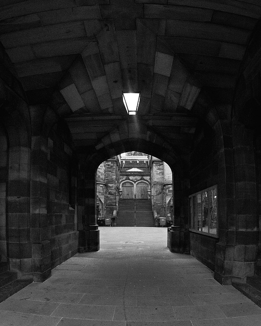 Entrance to the General Assembly Hall of the Church of Scotland, Edinburgh