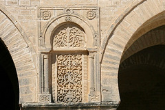 Qayrawan mosque gallery carved panel