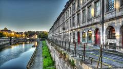 BESANCON: HDR du qu quai Vauban depuis le pont Battant.