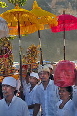 Worshippers on the Pandawa Beach