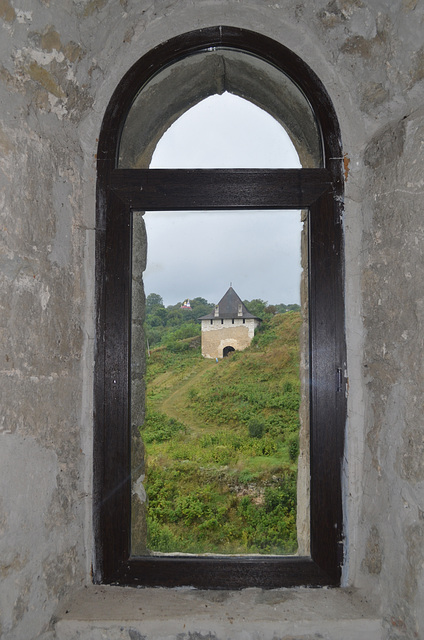 Хотинская крепость, Вид из окна Юго-Западной Башни / The Fortress of Khotyn, View from the Window of Southwest Tower